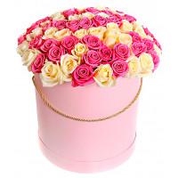 41 роза в шляпной коробке